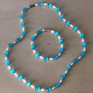 Jewelry - Hand Beaded Necklace and Bracelet Set